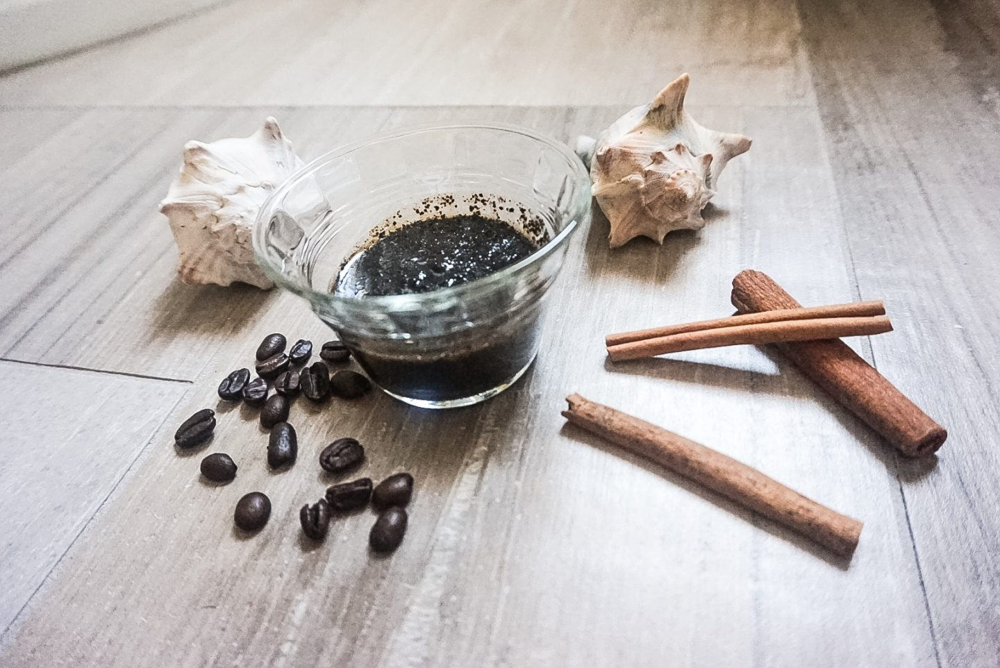DIY Coffee Cinnamon Coconut Oil Body Scrub